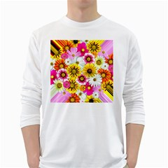 Flowers Blossom Bloom Nature Plant White Long Sleeve T Shirts
