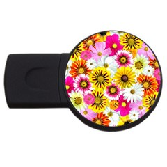 Flowers Blossom Bloom Nature Plant USB Flash Drive Round (4 GB)