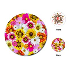Flowers Blossom Bloom Nature Plant Playing Cards (round)
