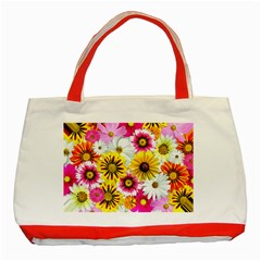 Flowers Blossom Bloom Nature Plant Classic Tote Bag (red)
