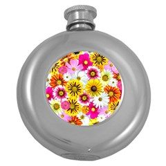 Flowers Blossom Bloom Nature Plant Round Hip Flask (5 Oz)