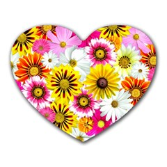 Flowers Blossom Bloom Nature Plant Heart Mousepads