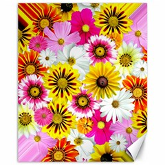 Flowers Blossom Bloom Nature Plant Canvas 11  X 14