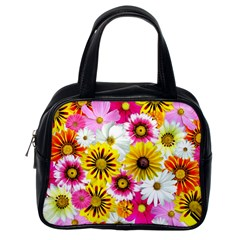 Flowers Blossom Bloom Nature Plant Classic Handbags (one Side)