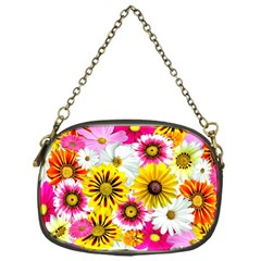 Flowers Blossom Bloom Nature Plant Chain Purses (one Side)