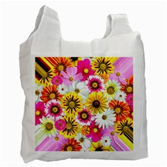 Flowers Blossom Bloom Nature Plant Recycle Bag (two Side)