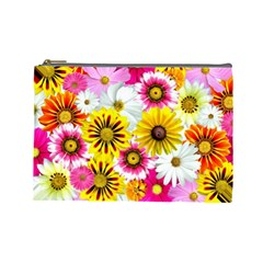 Flowers Blossom Bloom Nature Plant Cosmetic Bag (large)