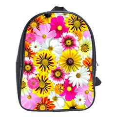 Flowers Blossom Bloom Nature Plant School Bags(large)