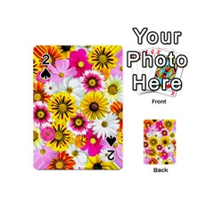 Flowers Blossom Bloom Nature Plant Playing Cards 54 (mini)