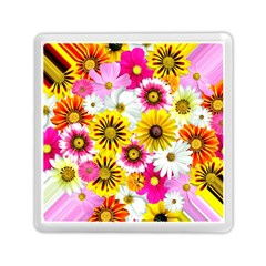 Flowers Blossom Bloom Nature Plant Memory Card Reader (square)