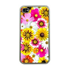 Flowers Blossom Bloom Nature Plant Apple Iphone 4 Case (clear)