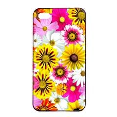 Flowers Blossom Bloom Nature Plant Apple Iphone 4/4s Seamless Case (black)