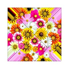 Flowers Blossom Bloom Nature Plant Acrylic Tangram Puzzle (6  X 6 )
