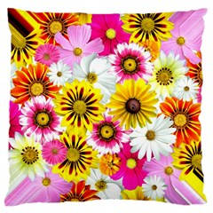 Flowers Blossom Bloom Nature Plant Large Cushion Case (one Side)