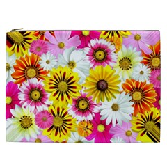 Flowers Blossom Bloom Nature Plant Cosmetic Bag (xxl)