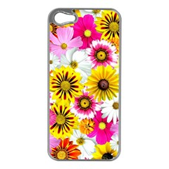 Flowers Blossom Bloom Nature Plant Apple Iphone 5 Case (silver)