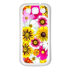 Flowers Blossom Bloom Nature Plant Samsung Galaxy S3 Back Case (white)