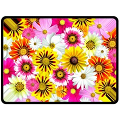 Flowers Blossom Bloom Nature Plant Double Sided Fleece Blanket (large)