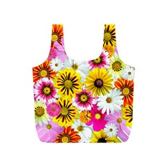 Flowers Blossom Bloom Nature Plant Full Print Recycle Bags (s)