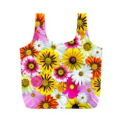 Flowers Blossom Bloom Nature Plant Full Print Recycle Bags (m)