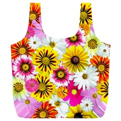 Flowers Blossom Bloom Nature Plant Full Print Recycle Bags (l)