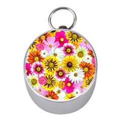 Flowers Blossom Bloom Nature Plant Mini Silver Compasses