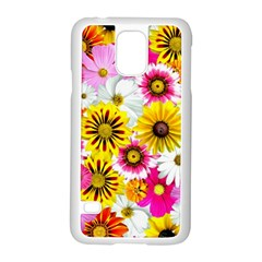 Flowers Blossom Bloom Nature Plant Samsung Galaxy S5 Case (white)