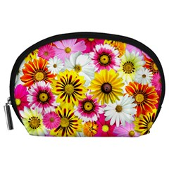 Flowers Blossom Bloom Nature Plant Accessory Pouches (large)