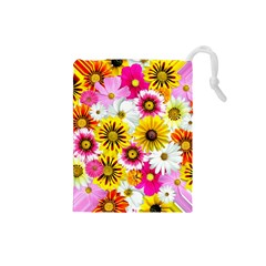 Flowers Blossom Bloom Nature Plant Drawstring Pouches (small)