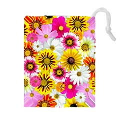 Flowers Blossom Bloom Nature Plant Drawstring Pouches (extra Large)