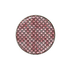 Scales2 Black Marble & Red & White Marble (r) Hat Clip Ball Marker