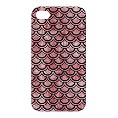 Scales2 Black Marble & Red & White Marble (r) Apple Iphone 4/4s Premium Hardshell Case