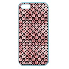 Scales2 Black Marble & Red & White Marble (r) Apple Seamless Iphone 5 Case (color)