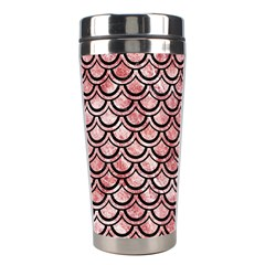 Scales2 Black Marble & Red & White Marble (r) Stainless Steel Travel Tumbler