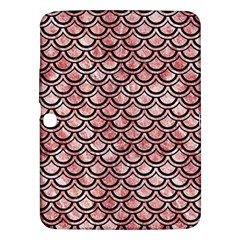 Scales2 Black Marble & Red & White Marble (r) Samsung Galaxy Tab 3 (10 1 ) P5200 Hardshell Case