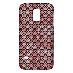 Scales2 Black Marble & Red & White Marble (r) Samsung Galaxy S5 Mini Hardshell Case