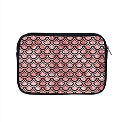 Scales2 Black Marble & Red & White Marble (r) Apple Macbook Pro 15  Zipper Case