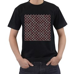 Scales2 Black Marble & Red & White Marble Men s T Shirt (black)