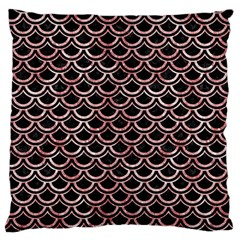 Scales2 Black Marble & Red & White Marble Large Cushion Case (two Sides)
