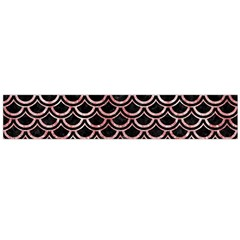 Scales2 Black Marble & Red & White Marble Flano Scarf (large)