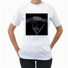 Dog Tube White Night Dark Ice Women s T Shirt (white) (two Sided)