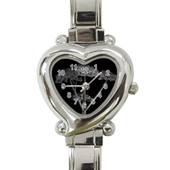 Dog Tube White Night Dark Ice Heart Italian Charm Watch