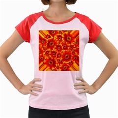 Gerbera Flowers Blossom Bloom Women s Cap Sleeve T-Shirt