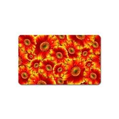Gerbera Flowers Blossom Bloom Magnet (Name Card)