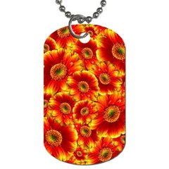 Gerbera Flowers Blossom Bloom Dog Tag (one Side)