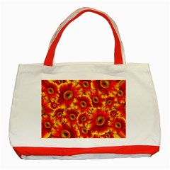 Gerbera Flowers Blossom Bloom Classic Tote Bag (red)