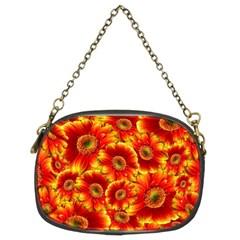 Gerbera Flowers Blossom Bloom Chain Purses (two Sides)