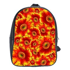 Gerbera Flowers Blossom Bloom School Bags(large)