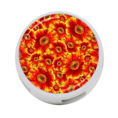 Gerbera Flowers Blossom Bloom 4 Port Usb Hub (two Sides)