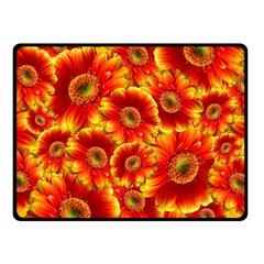 Gerbera Flowers Blossom Bloom Fleece Blanket (Small)